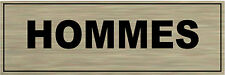 Plaque de porte aluminium brossé Signalétique de porte-  HOMMES
