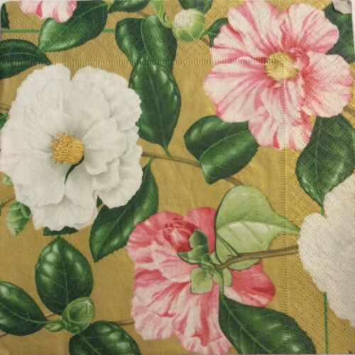 Flowers Decoupage Paper Napkins 3ply Scrapbooking Card Making x 2