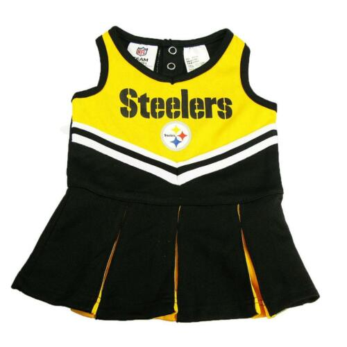 New NFL Pittsburgh Steelers Infant Girls Cheerleader Dress Sizes 0-18 Months