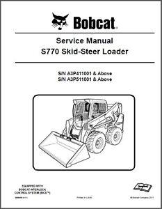 bobcat s770 skid steer loader service manual on a cd ebay rh ebay com bobcat s770 owner's manual Bobcat B100