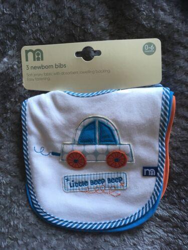 Mothercare newborn bibs Little Beep Beep Bnwt