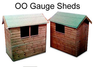 Model-Railway-Shed-x-4-OO-Gauge-Suits-Hornby-Scenery-Garden-Shed
