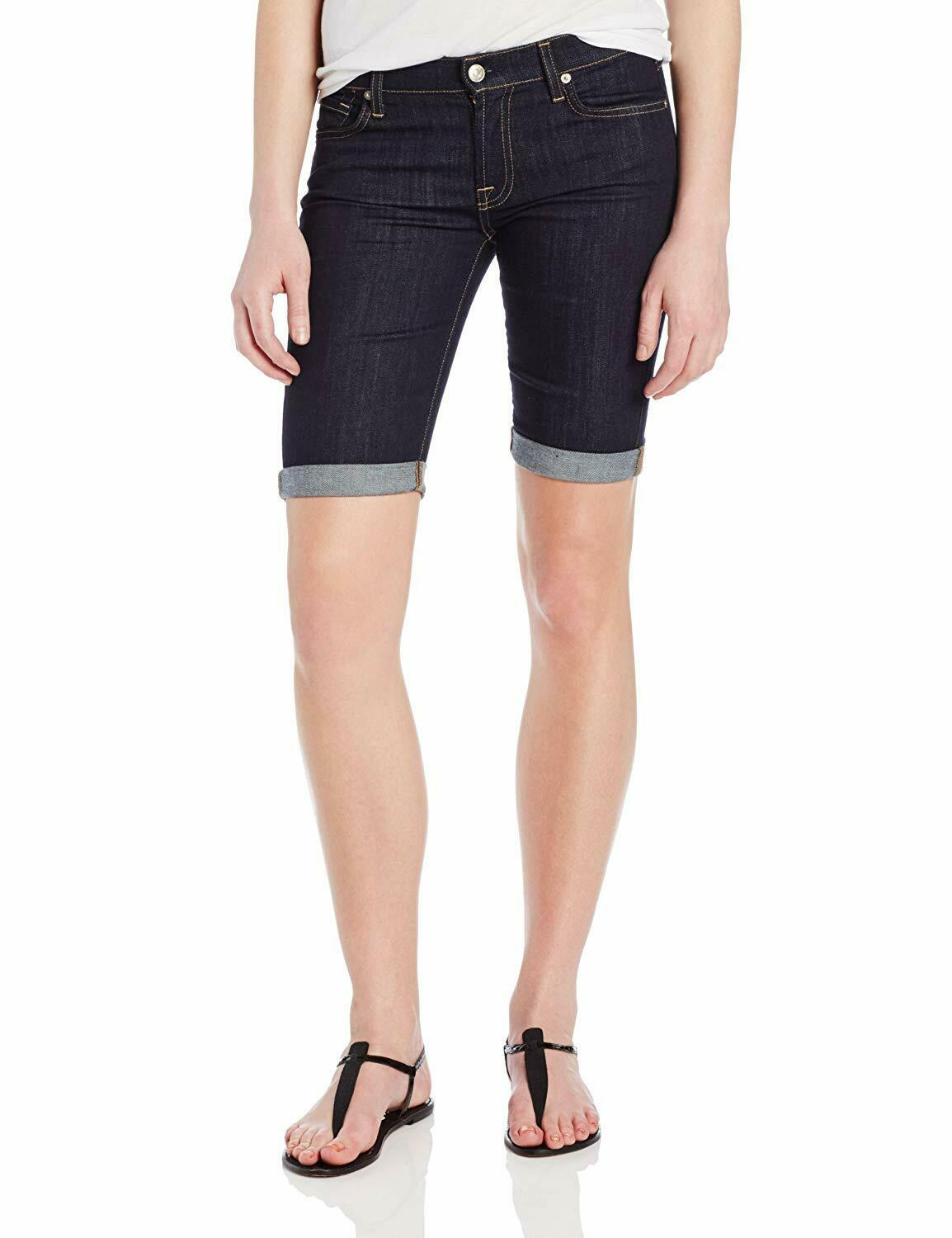 7 FOR ALL MANKIND encre Rinse Bermuda Short En Jean Größe 24 148