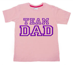 "SALE ITEM Pink T-Shirt 3/4 yrs ""Team Dad"" End of Line item."