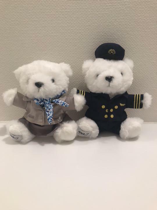 ANA International Flight In-Flight Sales Limited Item Flight Bear Set Japan F S