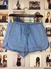 Rare! Brandy Melville high waisted Blue Denim Eve shorts W/ Pockets NWT