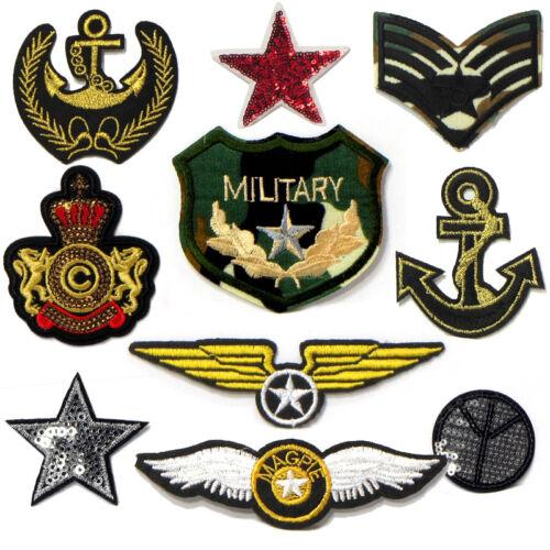 Military Army Patches Aufbügler AUFNÄHER Patch Bügelbilder Airforce Neu 3309