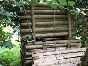 1.65m x 75/100mm peeled pointed STD pressure treated farm fencing posts