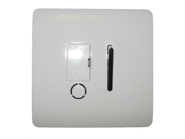 MODERN GLOSS WHITE AND CHROME LIGHT SWITCHES & SOCKETS