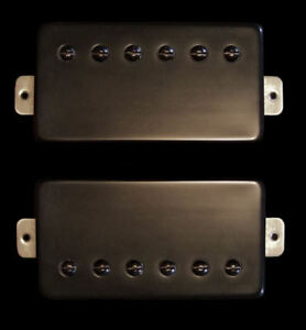 Guitar-Parts-GUITARHEADS-PICKUPS-ALNICO-SUPREME-PAF-HUMBUCKER-SET-2-BLACK