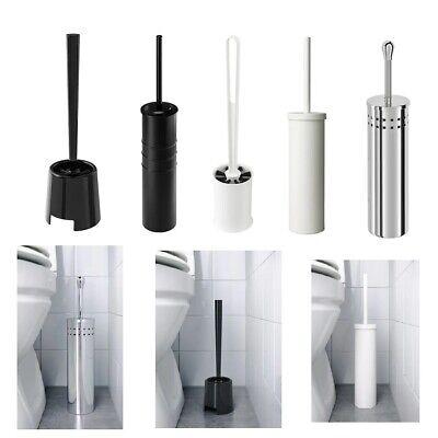 Ikea Noir Blanc Chrome Toilette Brosse Support Salle De Bain