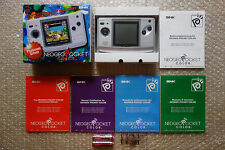 "Console Neo Geo Pocket Color Platinum Silver SNK ""Very Good Condition"" Japan"