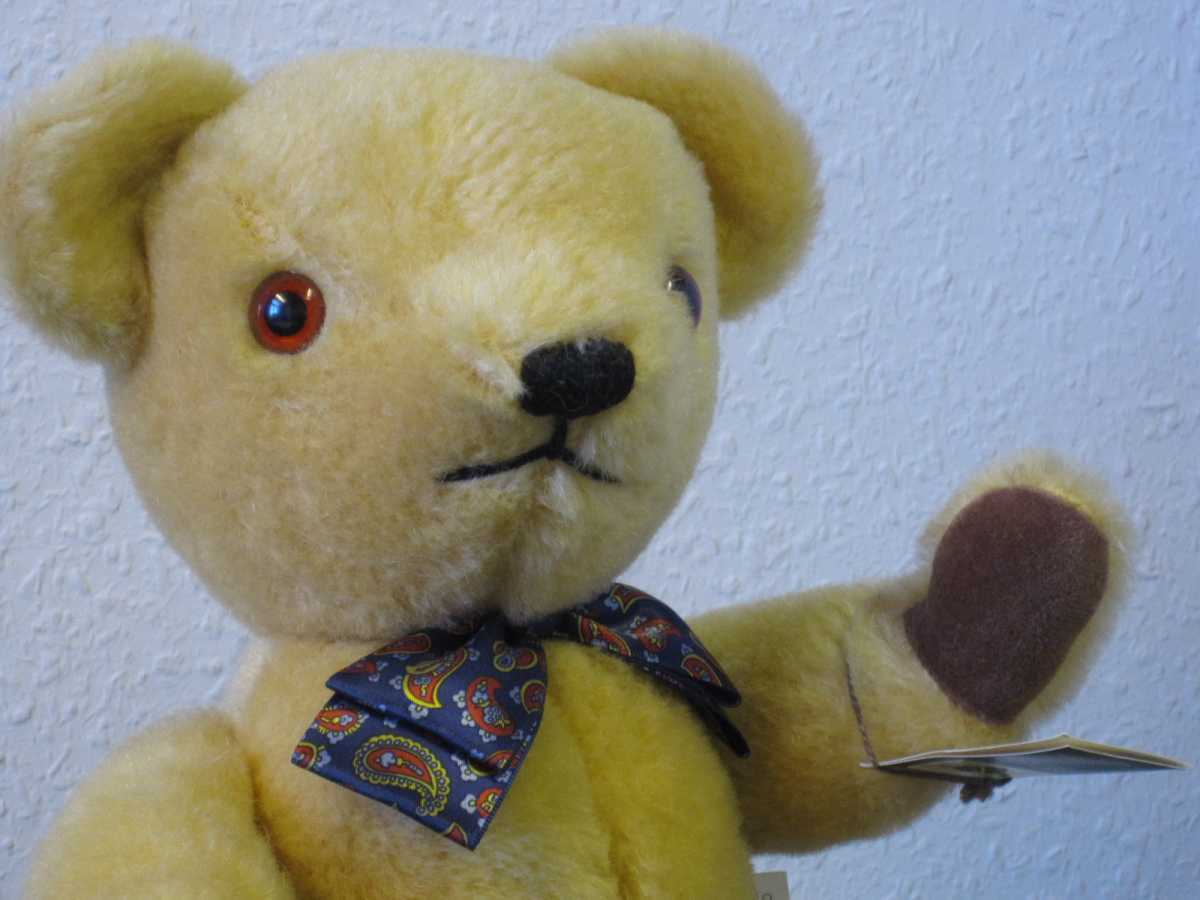 Nisbet Mohair Teddy, Traditional Bear, 40 cm Tg. da; 1990; Merce Nuova