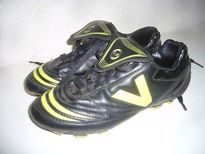 Jungen Fussball-Schuhe Sport-Schuhe mit Nocken Stollen Rasen 34 Victory schwarz