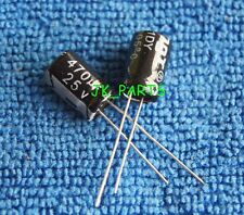 10pcs 470uF 25V 105°C Radial Electrolytic Capacitor 8x12mm