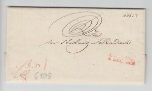 """T&t - napoleonica """"Coburg/6 DEC. 1838"""" - testa ornamentali"""" herzogliche Altezza Serenissima""""."""