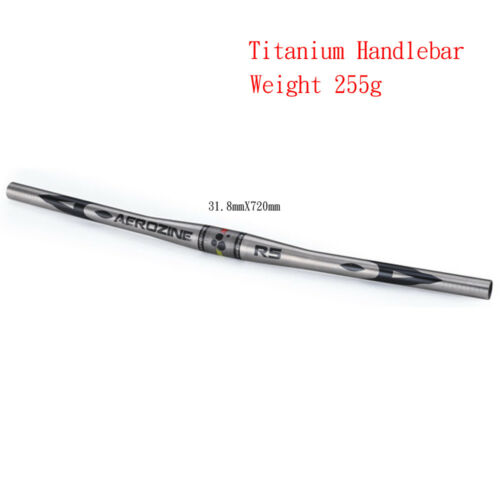 Aerozine XBR5 Ti Titanium Mountain 29er Bike MTB Flat Bar Handlebar 31.8mm 720mm