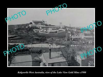 OLD LARGE HISTORIC PHOTO OF KALGOORLIE WEST AUSTRALIA LAKE VIEW GOLD MINE  c1900 | eBay