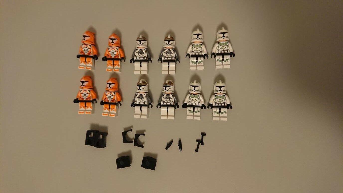LEGO Star Wars 12 FIGUREN MINIFIGUREN CLONE TROOPER inklusive Zubehör