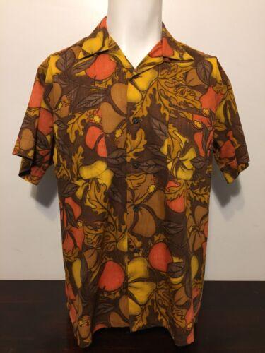 Vtg 50s Waikiki Wear Duke Hollywood Reverse Print