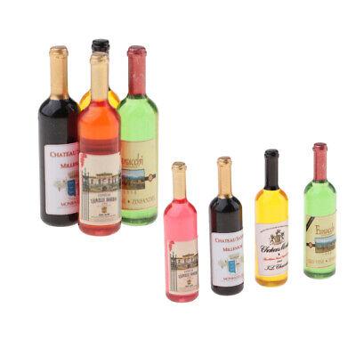18 Piece Handmade 1:12 Dollhouse Wine Bottles Kitchen Bar Decor Crafts