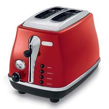 Icona 2-Slice Extra-Lift Removable Tray Electronic Browning Control Toaster Red