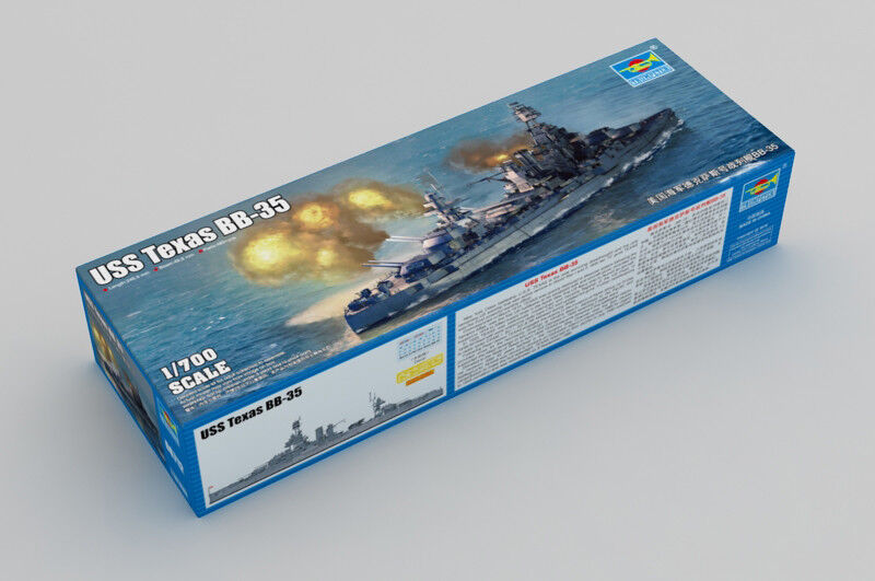 Trumpeter 06712 1 700 USS Texas BB-35 Warship Boat Warcraft Model Battleship