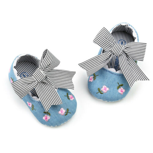 2018 Infant Baby Girl Embroidery Flower Fashion Cute Princess Kid Canvas Shoes