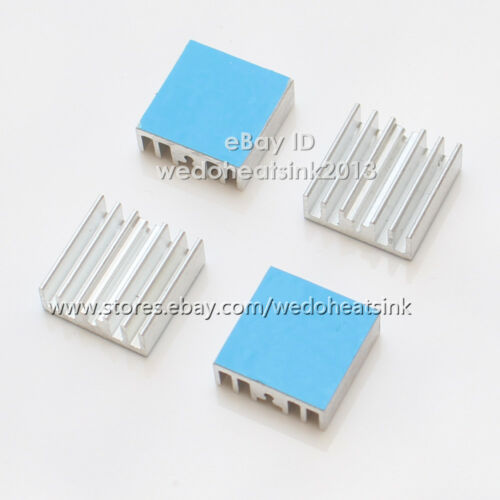 100pcs//lot 15x15.5x5mm Aluminum Heat Sink With Thermal Tape for RAM IC CPU