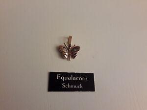 Jugendstil-Anhaenger-Schmetterling-Opal-Silber-Vergoldet-Unikat-Schmuck-NEU