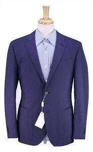 NWT-New-BEYMEN-by-Corneliani-Blue-Check-Cotton-Seersucker-Slim-2-Btn-Blazer-38R