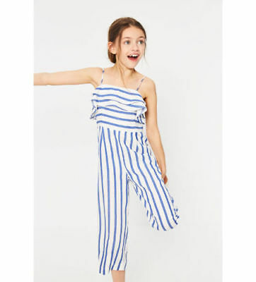 2dd98494a7 Zara Girls STRIPED JUMPSUIT WITH RUFFLES - various sizes - new with tags  RRP £20