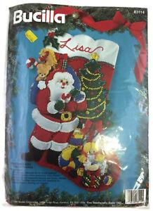 Bucilla Felt Holiday Stocking Kit vintage CHRISTMAS EVE ...