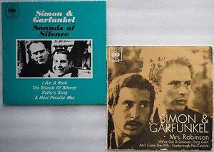 SIMON-amp-GARFUNKLE-2x-Ep-AUSTRALIA-PIC-SLEEVE-Mrs-Robinson-Sounds-Of-Silence-PAUL