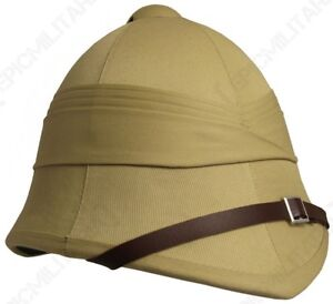e1470b6bdfb39 Details about British Army Tropical Pith Helmet - Repro Explorer Rorke's  Drift Colonial Hat