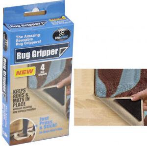 4-x-Anti-Skid-RUG-GRIPPERS-Non-Slip-Reusable-Carpet-Mat-Gripper-NEW