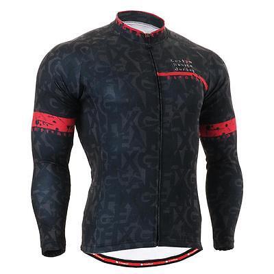 FIXGEAR CS-g601 Men's Long Sleeve Cycling Jersey Bicycle Apparel Roadbike MTB
