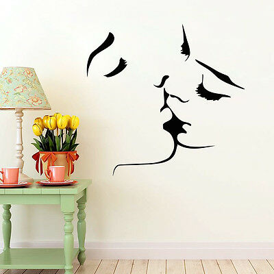 Kissing Lover Man Women Modern Wall Home Decal Decor Bedroom Viny Sticker