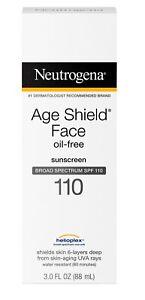 Neutrogena Age Shield Face Lotion Sunscreen Broad Spectrum Spf 110 3 FL. OZ.