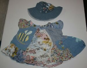 3-6 Months Ruffle Pants Hat Swing Top Noo Summer 3 Piece Outfit Bee