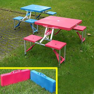 camping tisch klappbar picknick tisch faltbar reisetisch falttisch koffertisch ebay. Black Bedroom Furniture Sets. Home Design Ideas