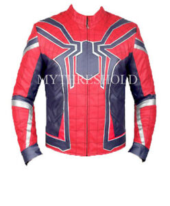 Jacket Costume Infinity Leather Armor Spiderman Avengers War wS60Svq