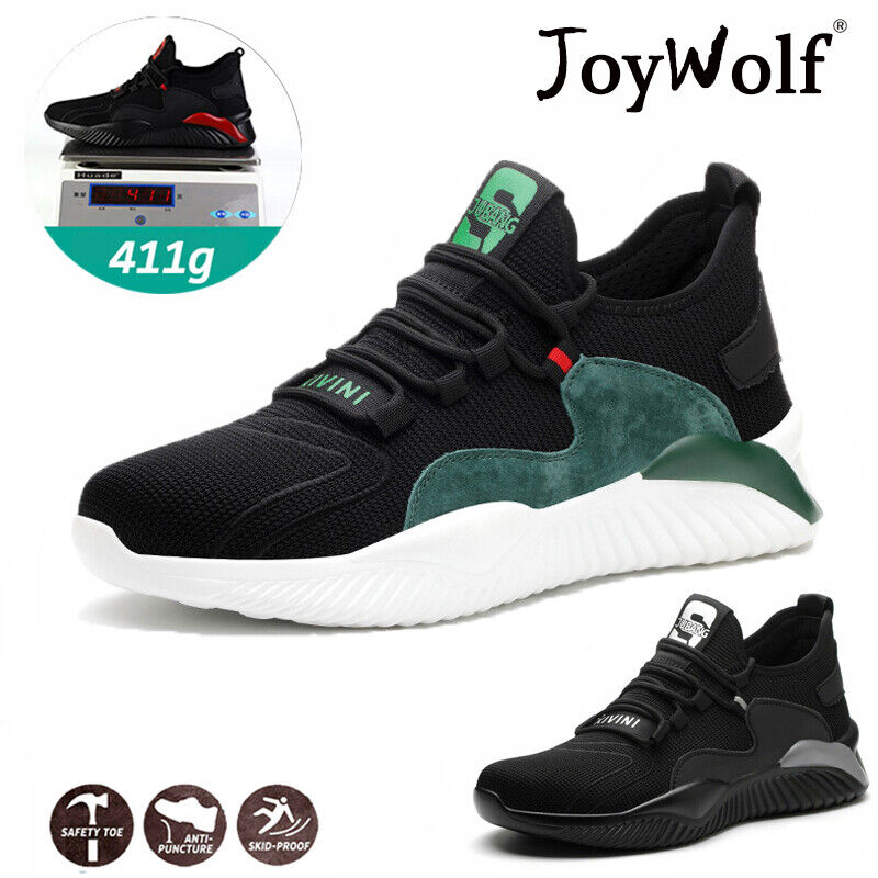 Mens Lightweight Steel Toe Cap Safety Trainers Women Work Shoes Hiking Boots UK!