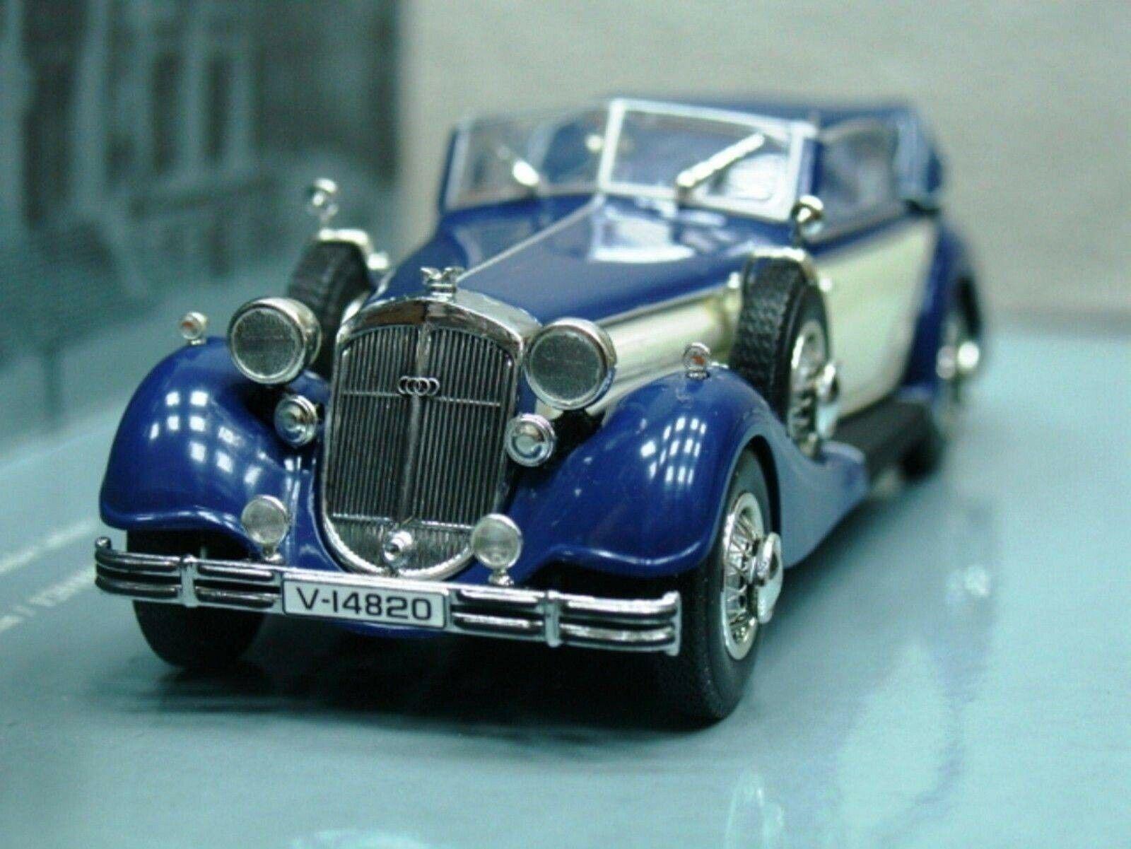 Wow extrêmement rare HORCH 853 A CABRIOLET 1938 bleu crème 1 43 Minichamps - 855 327