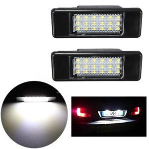 2x-LED-Feux-Eclairage-Plaque-pour-Peugeot-106-207-307-406-407-Citroen-C2-C3-C5