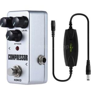 kokko mini compressor pedal portable guitar effect pedal w noise filter g3s0 798881970139 ebay. Black Bedroom Furniture Sets. Home Design Ideas