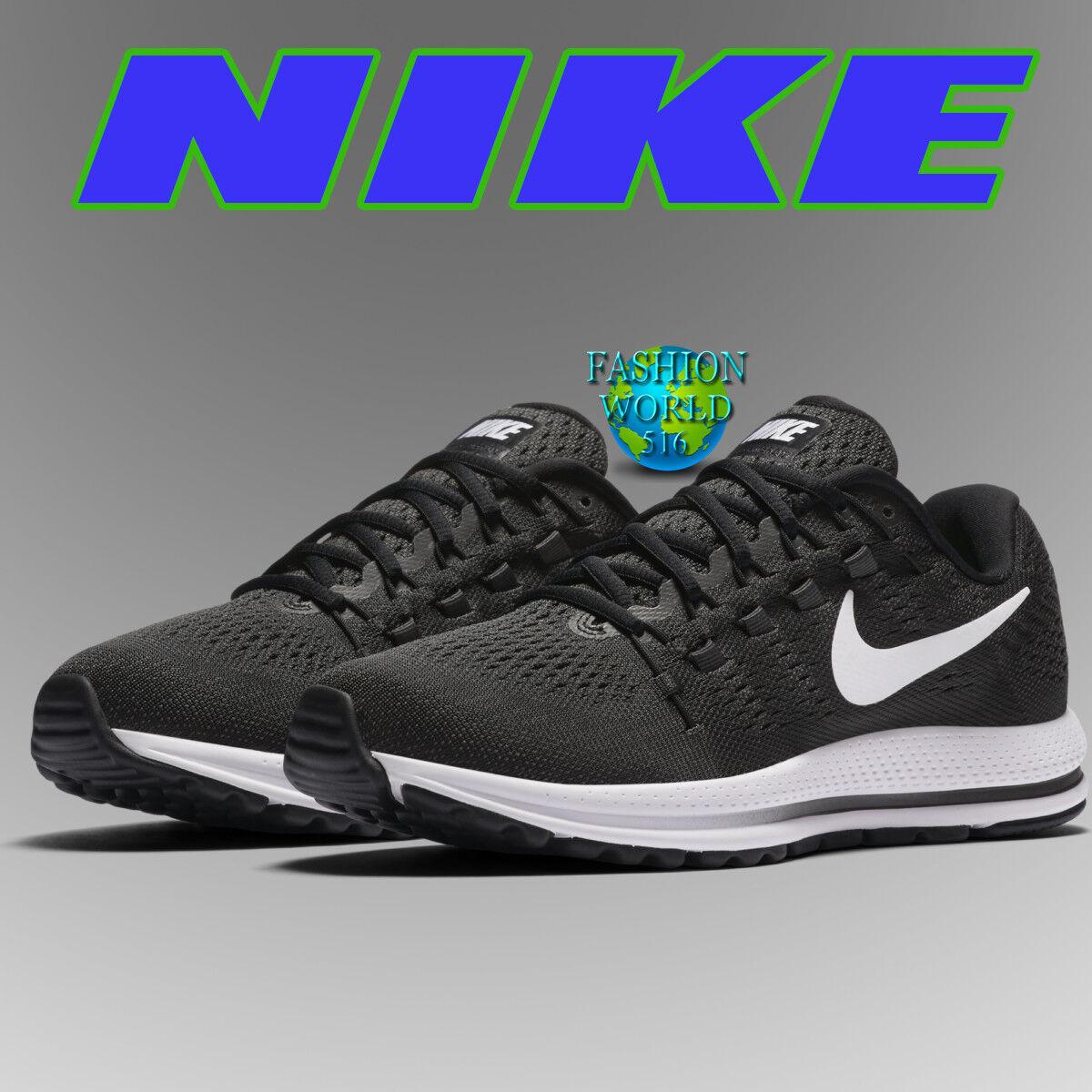 Nike Men's Vomero Size 9.5 Air Zoom Vomero Men's 12 Running Shoes 863762 001 Black/White NIB f2fd86