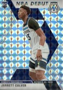 2019-20 Panini Mosaic NBA Debut Silver Prizm Jarrett Culver #263 Rookie