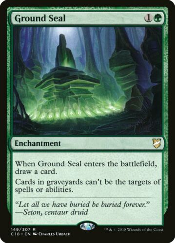 MTG Rare Ground Seal x 4 NM Commander 2018