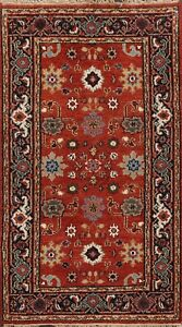 Geometric All-Over Heriz Oriental Area Rug Wool Hand-Knotted Foyer 3x5 ft Carpet